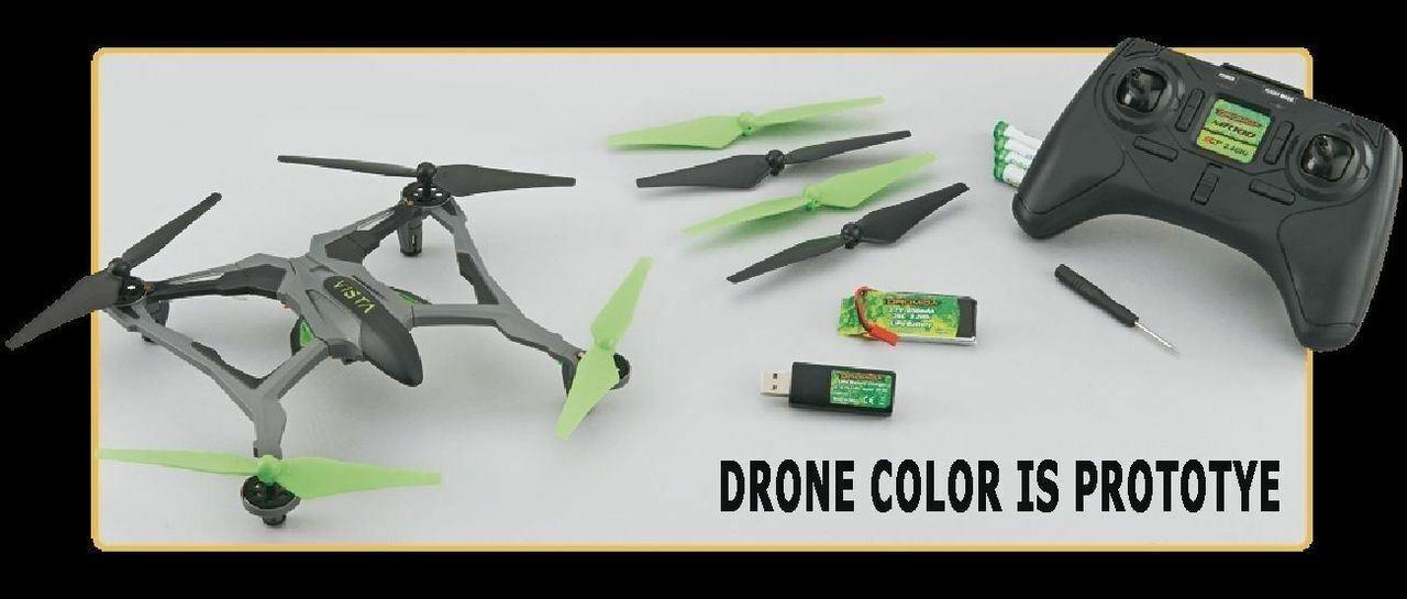Dromida Vista Uav 251 mm Quadrirossoore   Drone Bianco  RTF con   extra Lame  il più economico