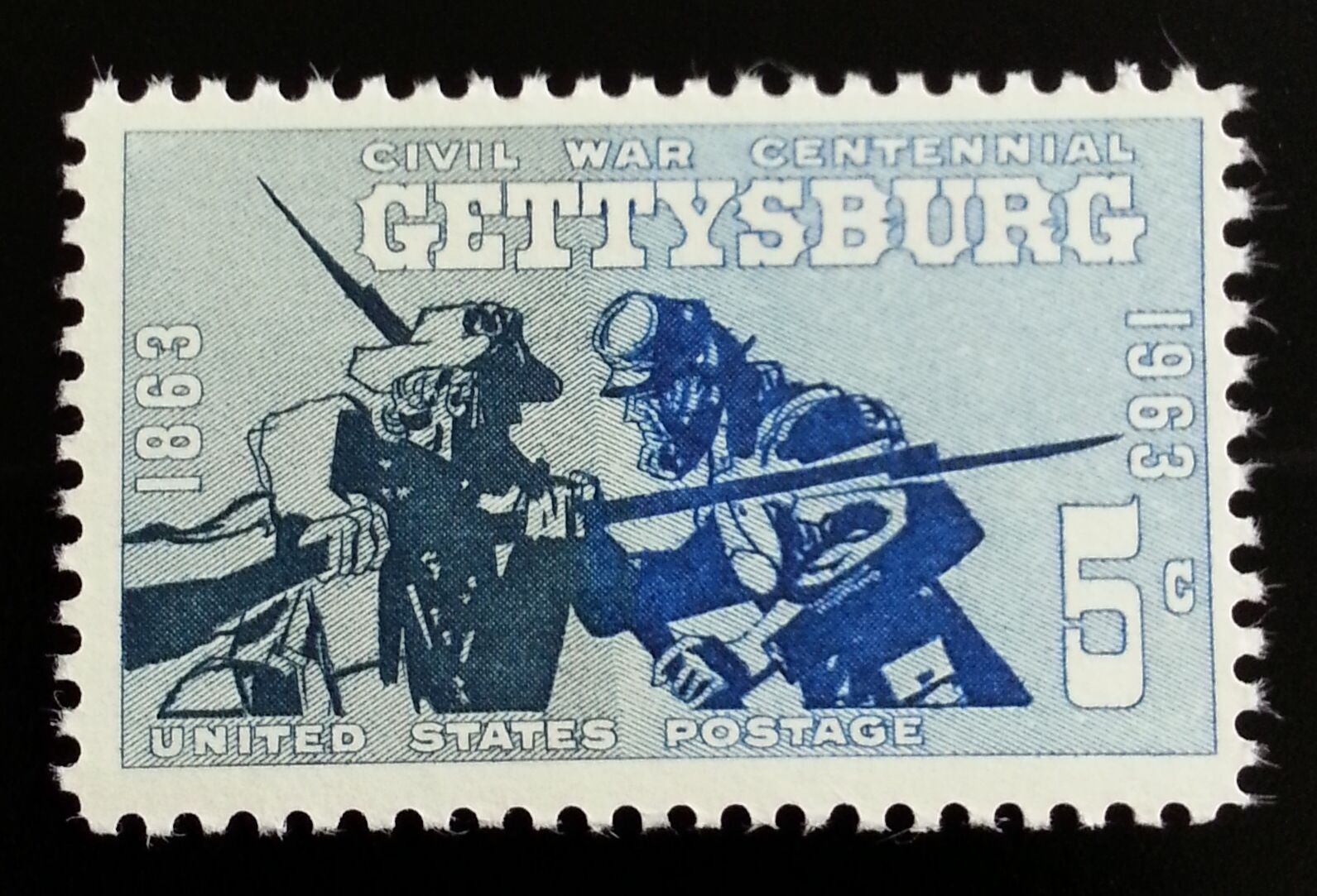 1963 5c Gettysburg, Civil War Scott 1180 Mint F/VF NH