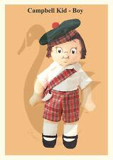 Reproducción Campbells Soup Kids Boy & Girl patrón de costura