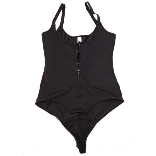 US Plus Size Women Latex Full Body Shaper Zipper Waist Trainer Cincher Shapewear