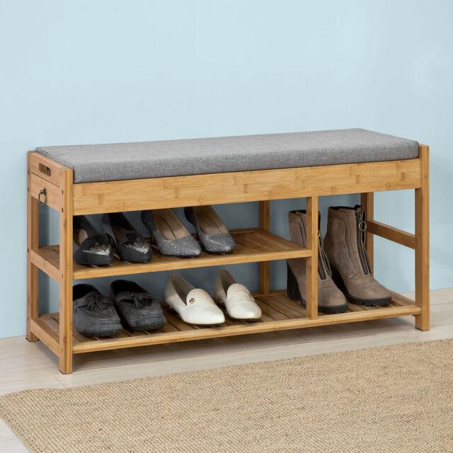 So Padded Hallway Shoe Storage Rack Bench Seat With E Fsr47 N