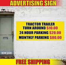 Tractor Trailer Banner Advertising Vinyl Sign Flag Parking Turn Around 24 Month