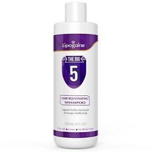 Hair-Regrowth-Shampoo-Lipogaine-Big-5-more-natural-shamoo-2-bottle-set