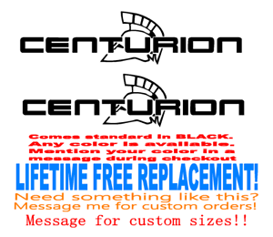 24 inch long Centurion Boat hull decals lifetime warranty Set of 2