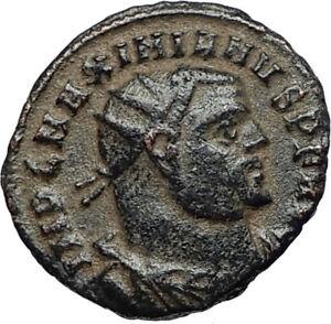 MAXIMIAN-Authentic-Ancient-Genuine-305AD-Alexandria-Roman-Coin-w-JUPITER-i67448