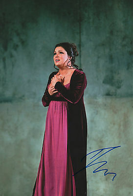 Impartial Anna Netrebko Opera Signed 8x12 Inch Photo Autograph Preventing Hairs From Graying And Helpful To Retain Complexion Entertainment Memorabilia