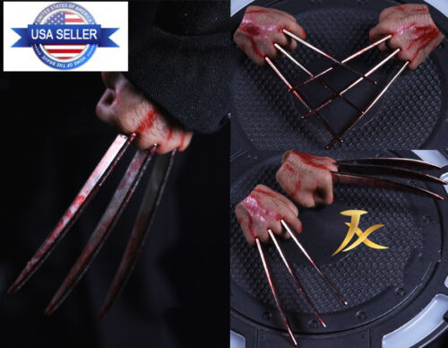 1/6 Wolverine Logan Metal Bloody Claw Hands Realistic Hair USA ❶IN STOCK❶