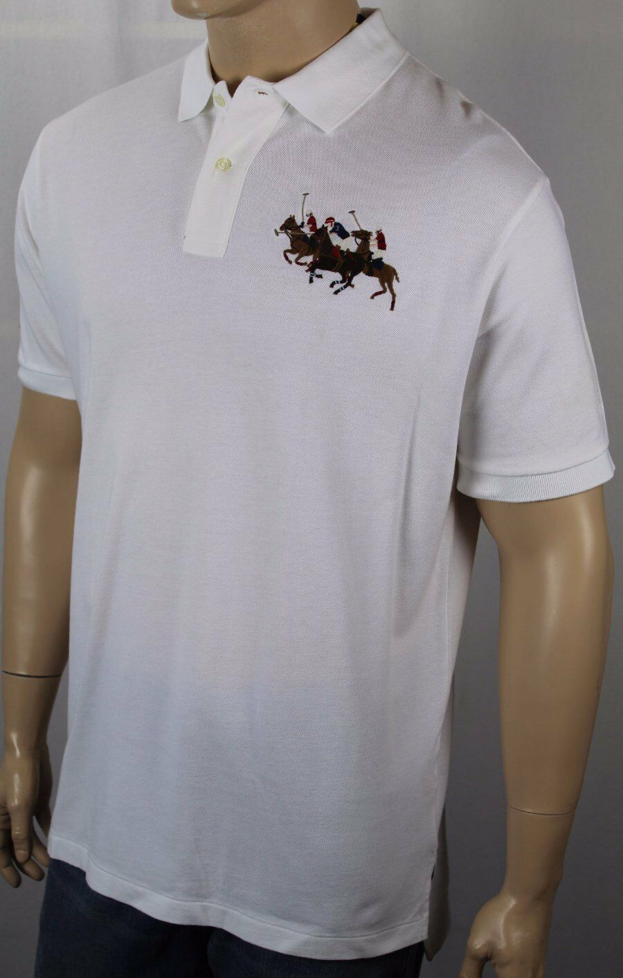 Polo Ralph Lauren White Classic Fit Mesh Shirt Big Pony Match NWT