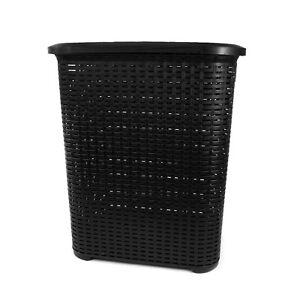 Panier-a-linge-panier-a-linge-rotin-optique-plastique-Noir-45L-capacite