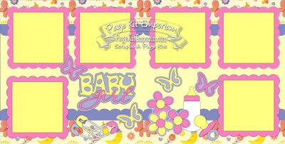 Scrapbook Page Kit Paper Piece Best Friends BFF Girl Flowers PKEmporium 167