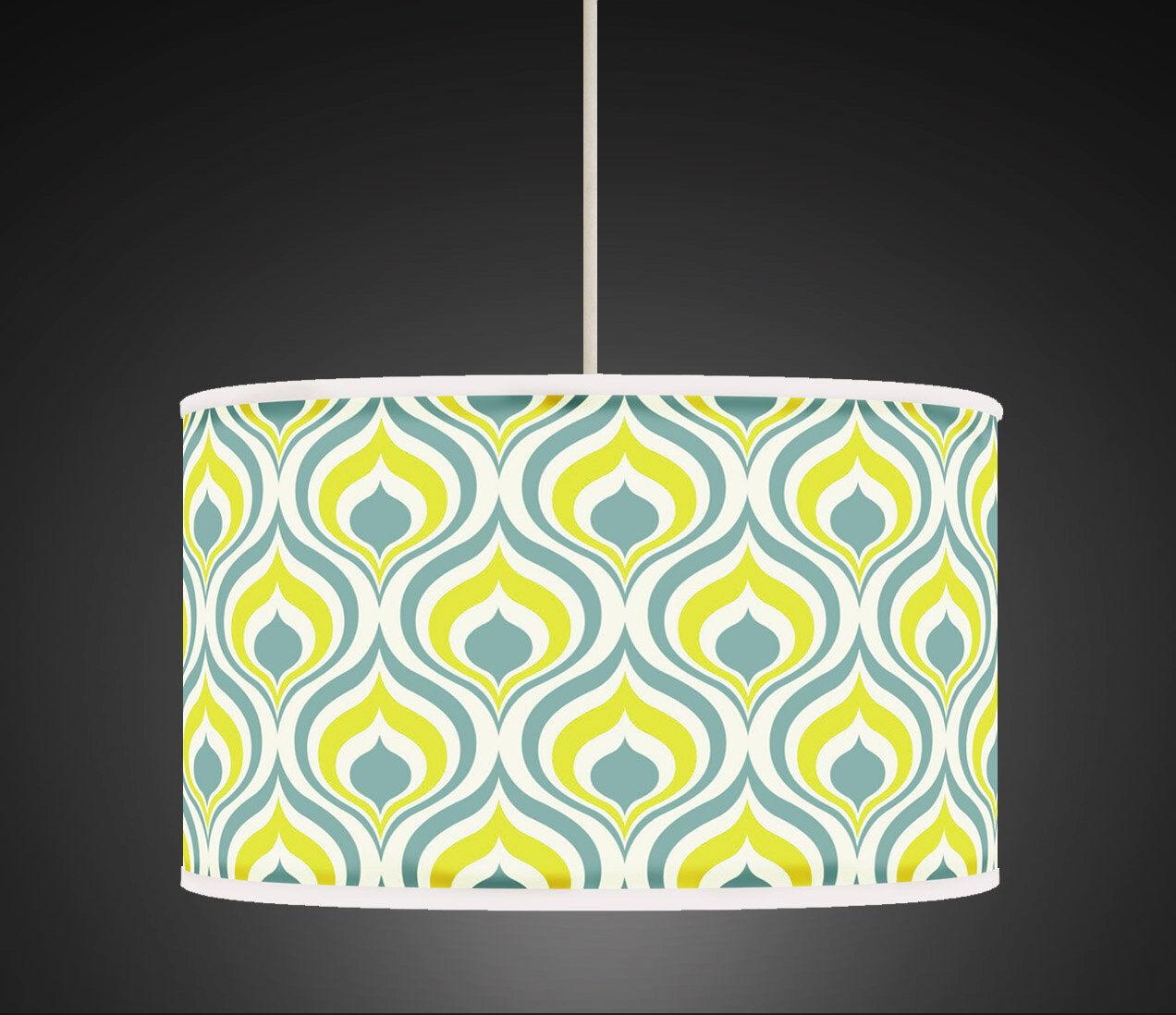 50cm jaune vert sauge géométrique handmade gicleel tissu abat-jour abat-jour tissu 449 9140ca