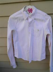 Abercrombie-Pale-Pink-Cotton-Pique-Button-Down-Tailored-Shirt-Size-XS-jrs