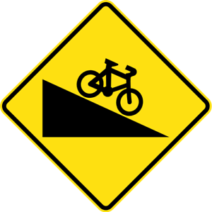 STEEP-DESCENT-FOR-CYCLISTS-W5-V103-SELF-ADHESIVE-STICKER-DECAL-SIGN-HE