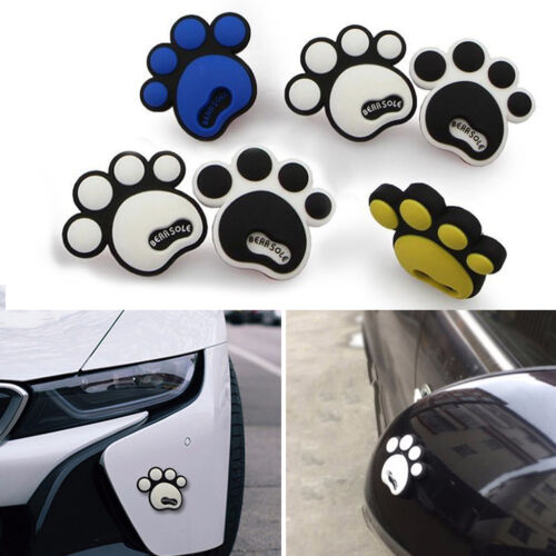 4pcs Cartoon Dog Paw 3D Rubber Car Stickers Anti-Collision Protector Tirm Guard