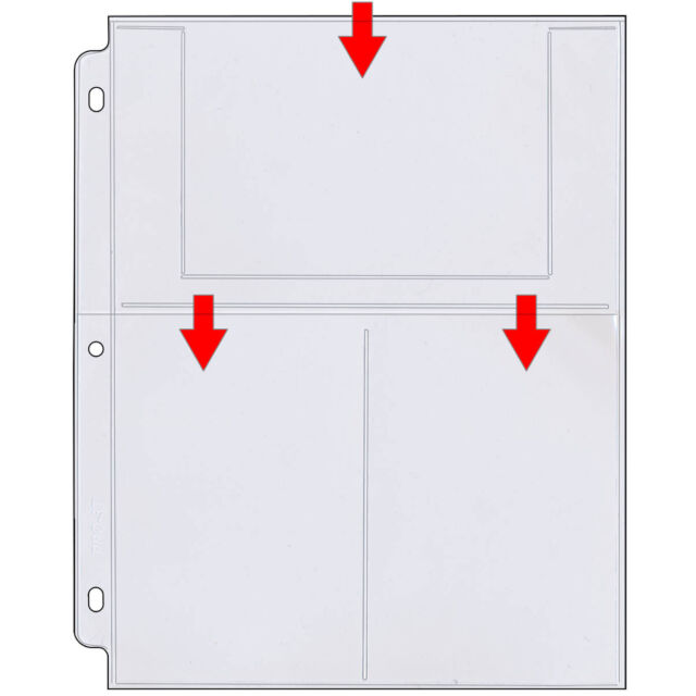 StoreSMART Photo Page for 3-Ring Binders Archival-Safe Plastic 100Pk VP197-100