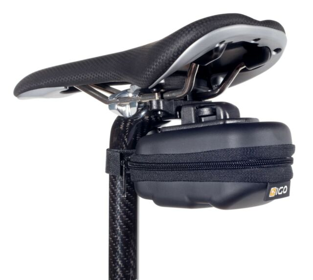 LARGE BICYCLE SADDLE BAG SEAT STASH PACK EVA HARD SHELL STRAP FIX SMALL