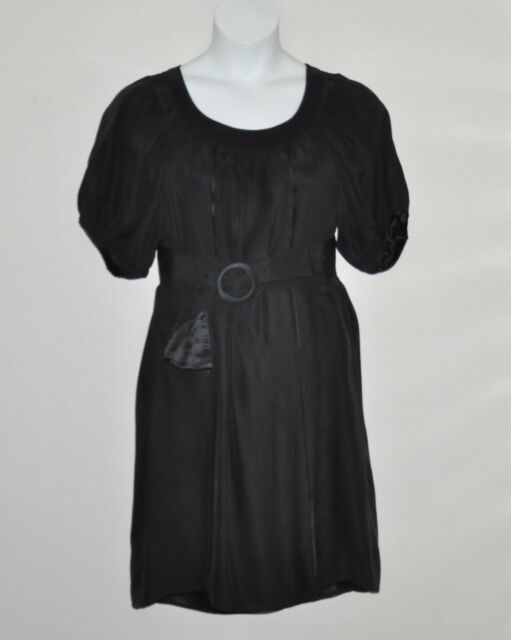 M by Marc Bouwer Dress with Trim And Belt Details Size S Black