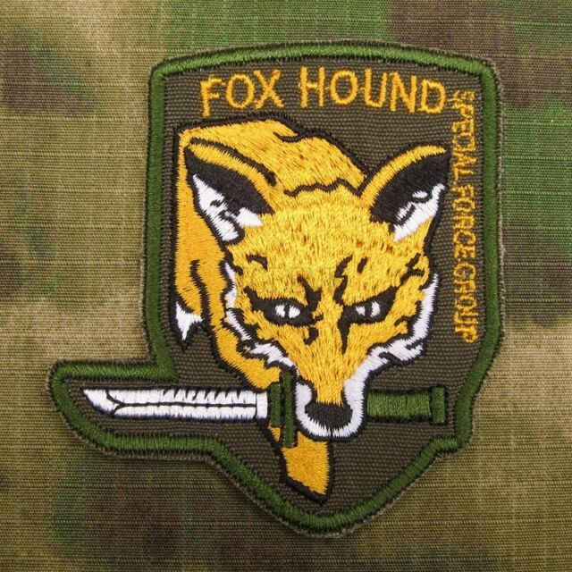 MGS Metal Gear Solid FOX Hound Morale tactics Embroidery Velcro Patch