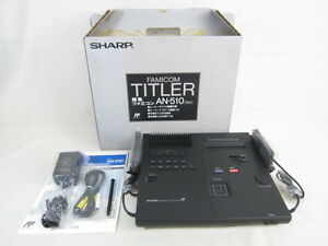 SHARP-FAMICOM-TITLER-AN-510-Black-Console-System-Boxed-Brand-New-JAPAN-0234
