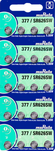 Murata 377 (SR626SW) Silver Oxide Watch Battery (20 Pack/Card)-Replaces Sony 377
