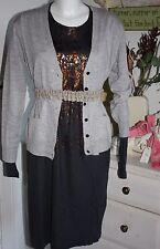 Noa Noa Dress Kleid Wool Jersey Langarm India Ink Size: S Neu