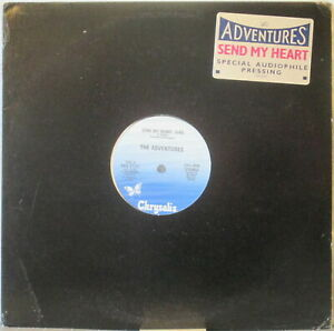 "THE ADVENTURES Send My Heart LP 12"" Single – Audiophile Press, w/ Hype Sticker"