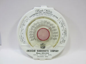 Vintage American Handicrafts Co Thermometer Cleveland Ohio Ebay