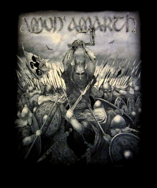 AMON AMARTH cd lgo WOLFORD Official SHIRT MED surtur rising