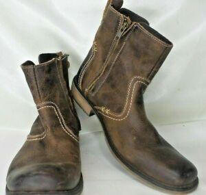 Roan-Boot-Men-039-s-Size-9-5-Brown-Zip-UP