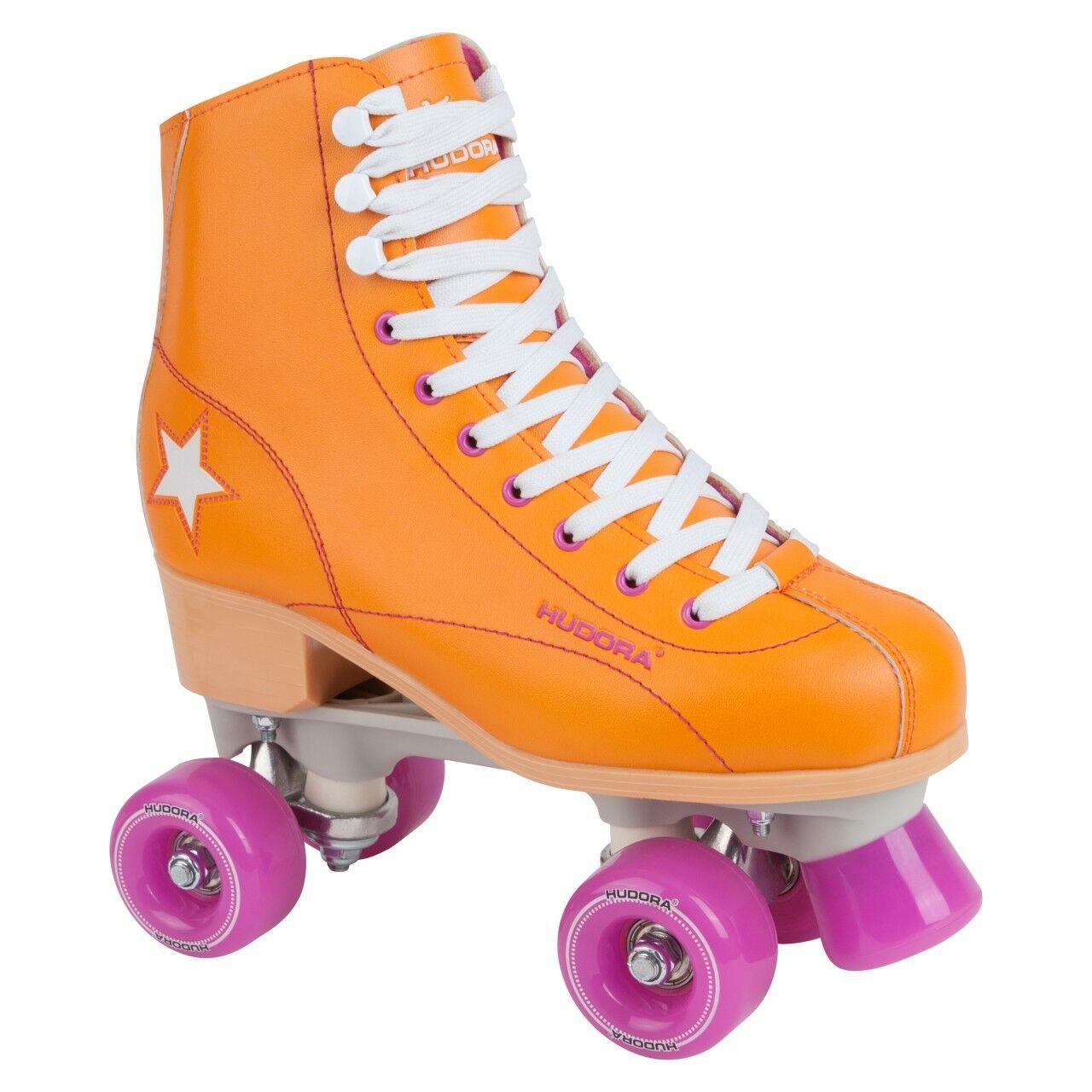 HUDORA Rollschuhe Roller Skate Disco Gr. 35 Orange-lila
