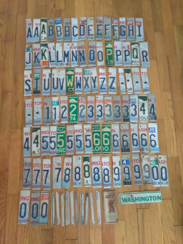 Lot of 100 Craft Grade License Plate Letters and Numbers for Crafts//Art Projects