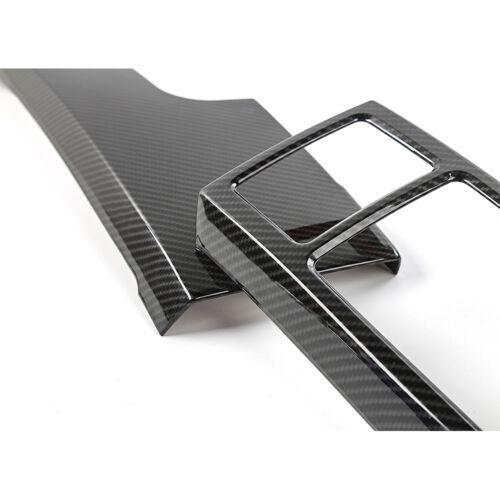 CarbonFiber Central Control Decor Panel Cover Frame Trim for Ford F150 2015-2017