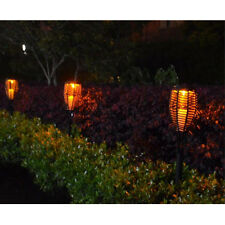 Waterproof Solar Power Rattan Torch Light LED Candle Landscape garden Lawn Lamp