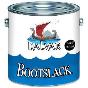 Halvar-PU-Bootslack-Bootsfarbe-Yachtlack-Metall-GFK-Holz-FARBAUSWAHL-Klarlack