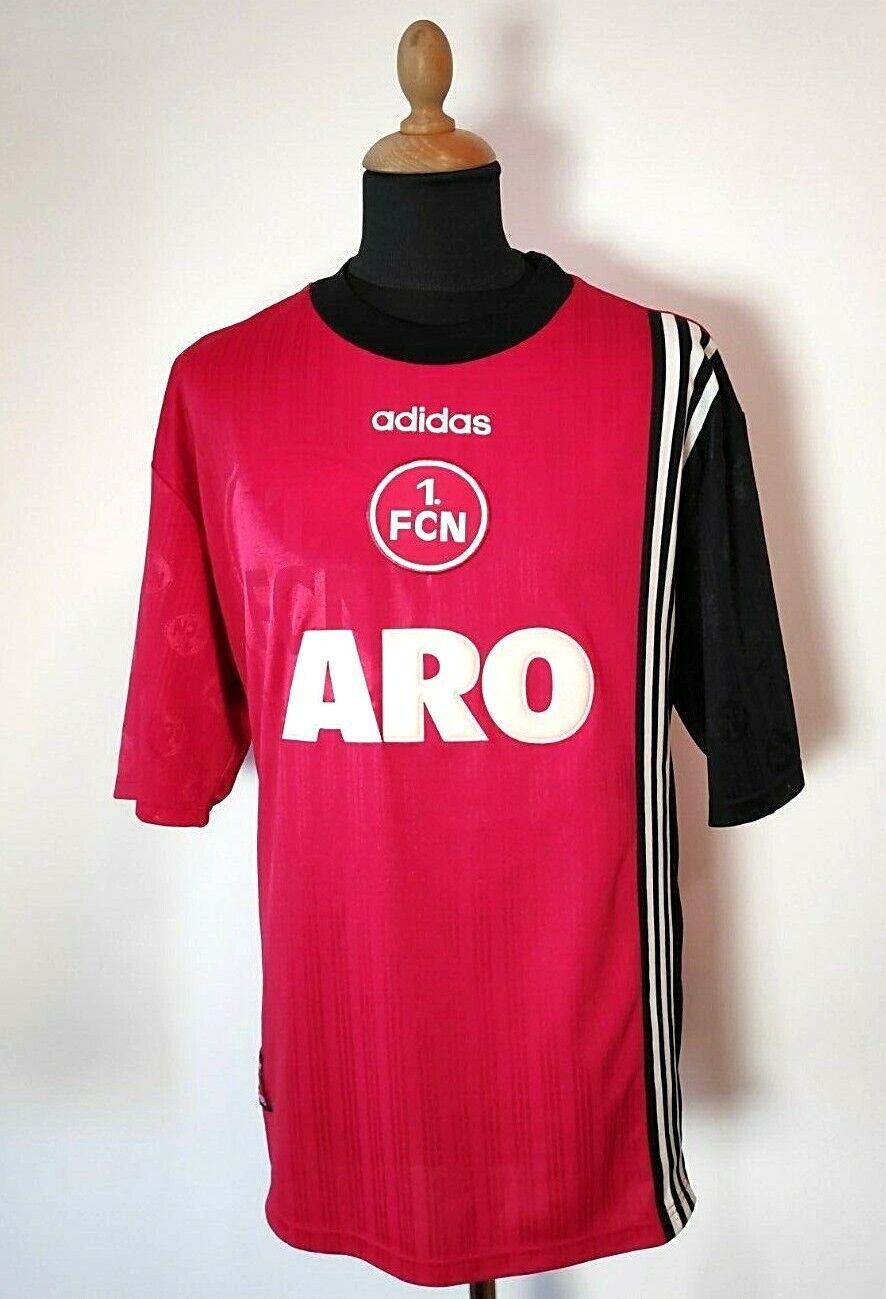 Vintage 1. FC Nürnberg Adidas Trikot 1997 98 Gr.L XL + Nr.8 Rot Shirt Aro 1.FCN