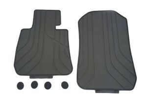 3D Tailored Black Rubber Floor Mat Trays For BMW 3 Series E90 06-11