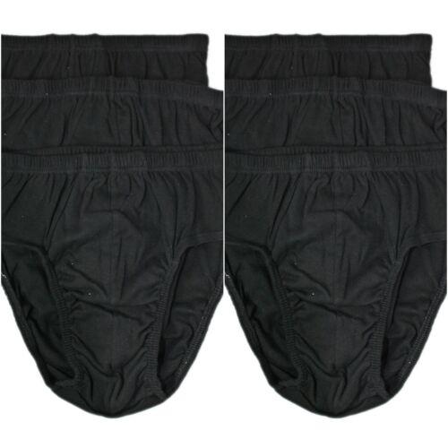 6er Pack Herren Slip Unterhose Männer Unterwäsche 100/% Baumwolle schwarz 70078