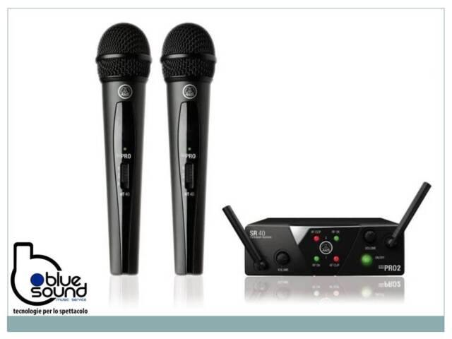 AKG WMS40 PRO MINI 2 DUAL VOCAL SET  DOPPIO RADIOMICROFONO A GELATO PER VOCE