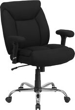 HERCULES 400 lb. Capacity Big & Tall Black Fabric Task Chair with Height Arms