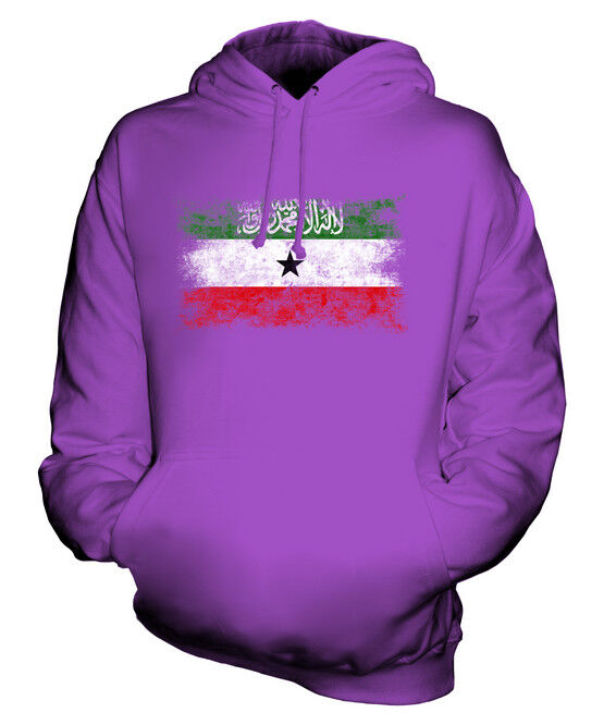 SOMALILAND DISTRESSED FLAG UNISEX HOODIE TOP FOOTBALL GIFT  CLOTHING