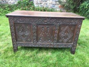 Period Antique Oak Coffer Ebay