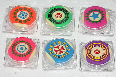 BRAND NEW TOURNAMENT CARROM STRIKERS (SET OF SIX) MULTI COLOR FREE SHIPPING@UK