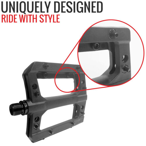 "VP Mountain Bike Pedals 9//16/"" Non-Slip Lightweight Nylon Fiber Pedal For BMX MTB"