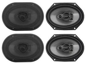 4-Rockville-RV68-3A-6x8-034-3-Way-Car-Speakers-1800-Watts-340-Watts-RMS-CEA-Rated