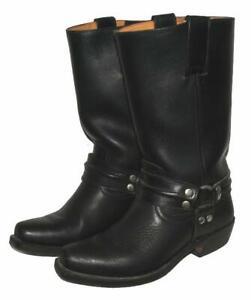 SENDRA-BOOTS-Western-Stiefel-Biker-Lederstiefel-in-schwarz-Gr-5-ca-38