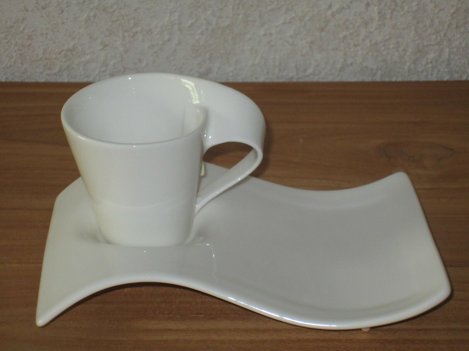 VILLEROY & BOCH NEW New Wave Set 4 Tasses espresso 8 cl + plateaux Cups V&B