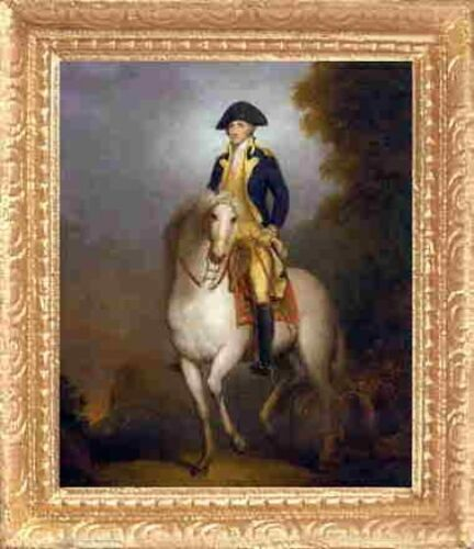 GEORGE WASHINGTON Dollhouse FRAMED Fine Art Picture MADE IN AMERICA