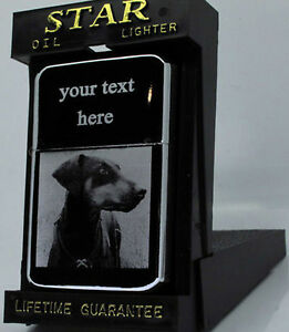 DOBERMAN-DOG-PHOTO-TEXT-ENGRAVED-LIGHTER-GIFT-UK