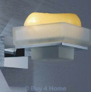 SQ-Brass-amp-Chrome-Wall-Mounted-Glass-Soap-Dish-Bathroom-Accessory-3060