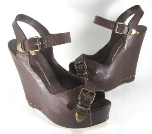 DOLCE VITA WOMEN'S NOAH PLATFORM SANDALS BROWN SIZE 10